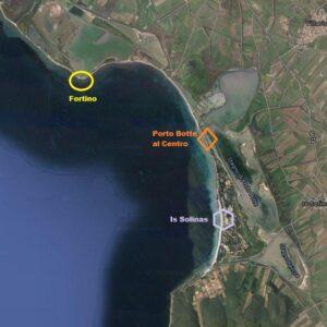 Kitesurf Porto Botte Sardegna: Fortino, porto Botte al Centro, Is Solinas