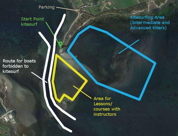 Dove fare Kitesurf a Punta Trettu in Sardegna: Le kite zones